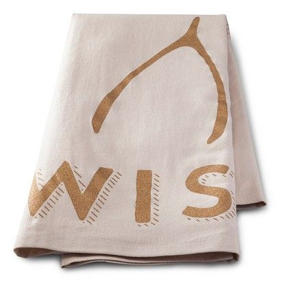 Threshold™™ Metallic Wish Flour Sack Towel: