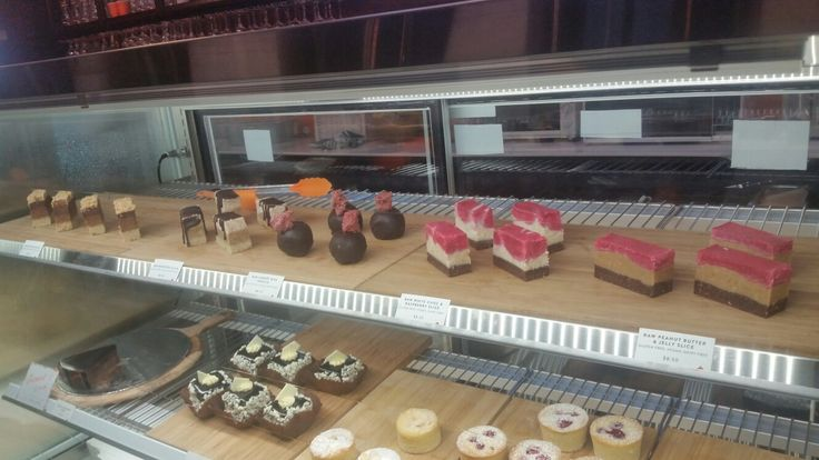 Selection of raw vegan cakes - Cocolat, Rundle St