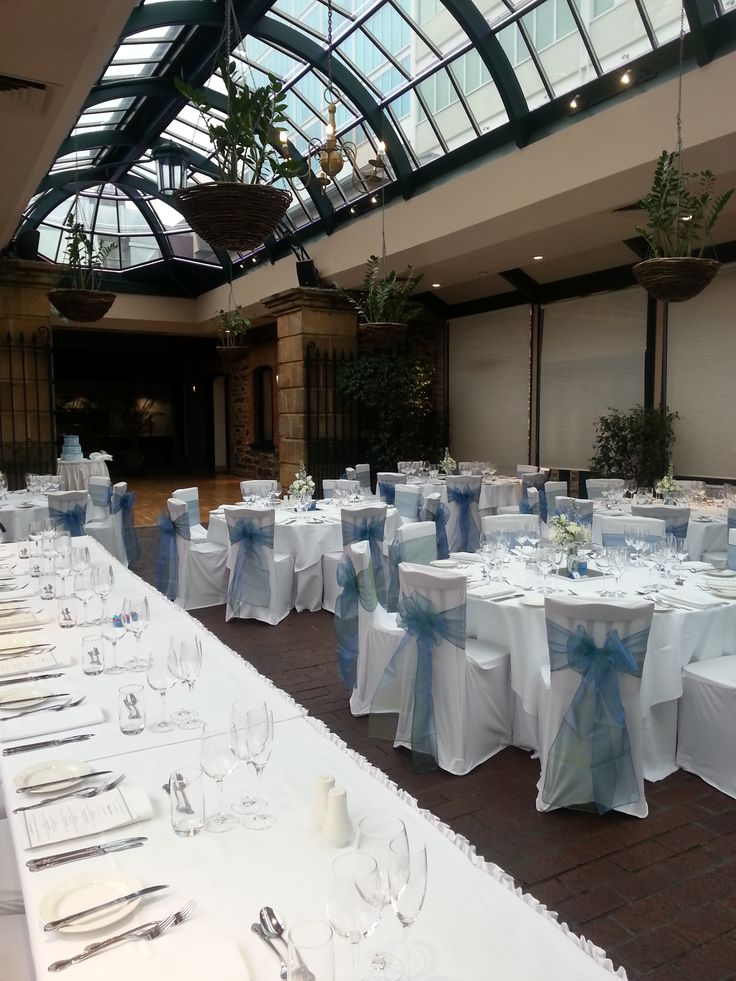 Ayers House wedding - Chair covers with sach