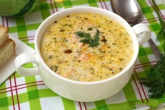 рецепт сырного супа с семгой