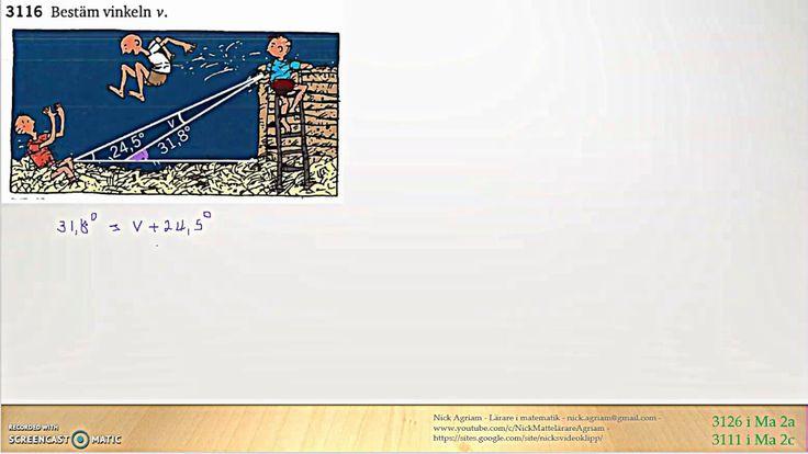 Genomgång av Matematik 5000 2bc VUX - Kapitel 3 - Geometri - Yttervinkel...