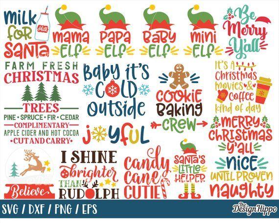Christmas svg bundle, Kids christmas svg files, Christmas
