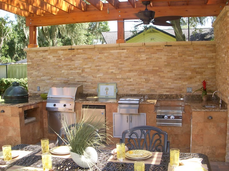 54 best summer kitchen images on pinterest decks for for Outdoor summer kitchen ideas