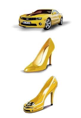 Sapatos femininos parecidos com o carro camaro | Online Carros |   (Clique na imagem para + detalhes)