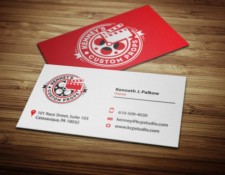 120 best business card images on pinterest business cards hollywood prop maker logo design branding reheart Gallery