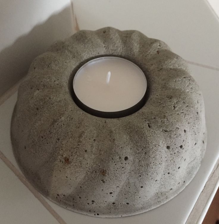 #concrete candle holder