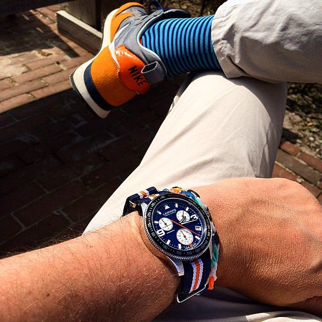 The perfect watch for a casual outfit. Photo by @kleermakert on Instagram.