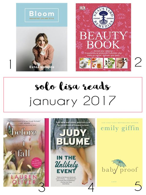 Solo Lisa Reads: January 2017
