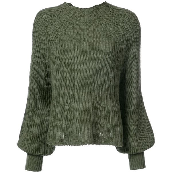 Apiece Apart mock turtle neck jumper (39685 RSD) ❤ liked on Polyvore featuring tops, sweaters, green, green sweater, green top, jumpers sweaters, mock turtle neck sweater and green turtleneck sweater