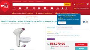 [Extra.com.br] Depilador Philips Lumea Sistema de Luz Pulsada Intensa SC2003 / 00 - Bivolt 3803731 por R$ 1.519,05