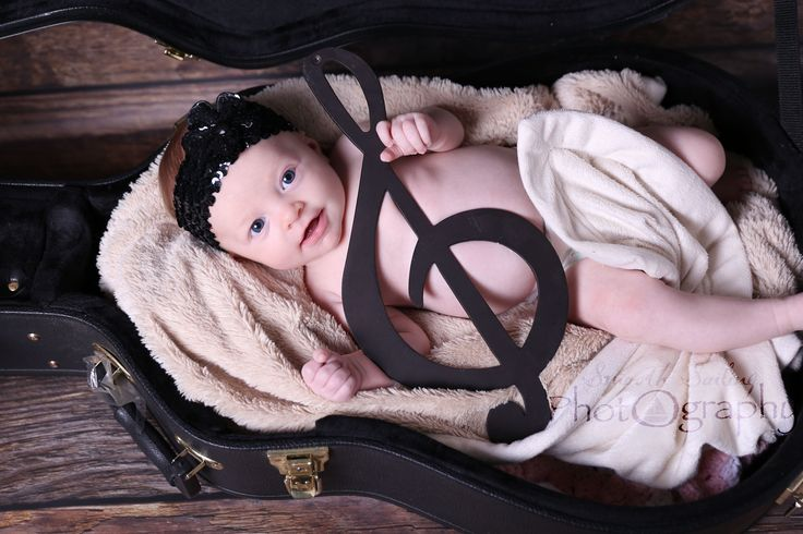 Music Photography, Newborn Photography, Baby, Musician, Guitar, Smooth Sailing Photography