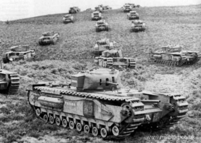 Churchill Mk II massed column. #worldwar2 #tanks
