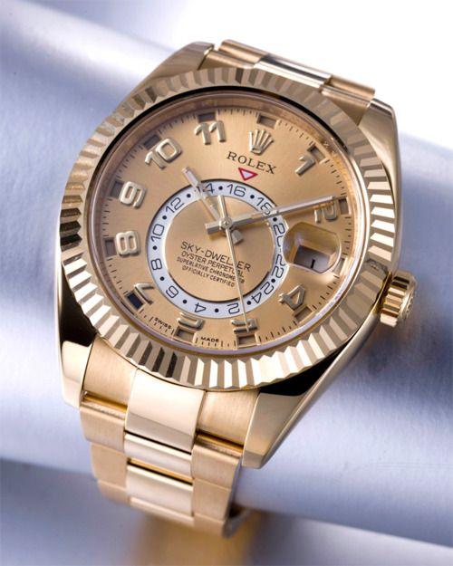 Rolex: Fashion Watches, Gold Skydwel, Rolex Watches, Rolex Sky Dwel, Reloj, Rolex Allgoldeveryth, Rolex Skydwel, Men Fashion, Today Fashion