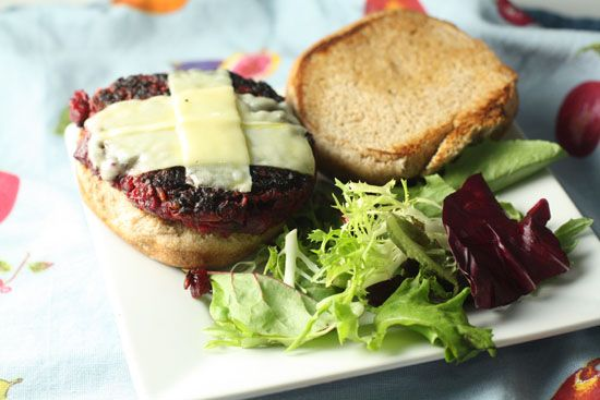 The Beet Burger.  Will have to make mine sans beans, I wonder if I could sub in some sweet potato?