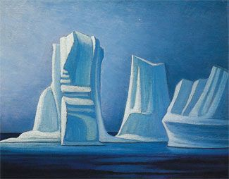 Lawren Harris  (1885-1970),  Icebergs, Smith sound II, 1930 Group of Seven