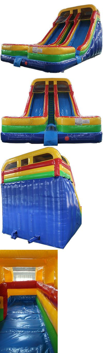 Inflatable Bouncers 145979: New 21Ft High Double Lane Commercial Inflatable Bounce House Water Slide -> BUY IT NOW ONLY: $2999 on eBay!