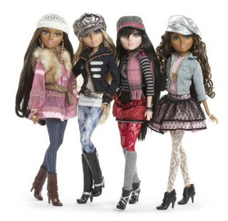 "Moxie Teenz Dolls.  These dolls are 14"" tall. They have wigs similar to the Liv dolls."