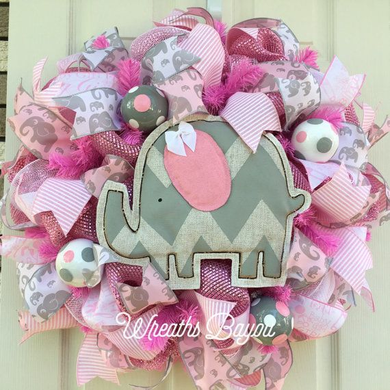 Best 20 baby girl wreaths ideas on pinterest baby girl for Baby shower door decoration