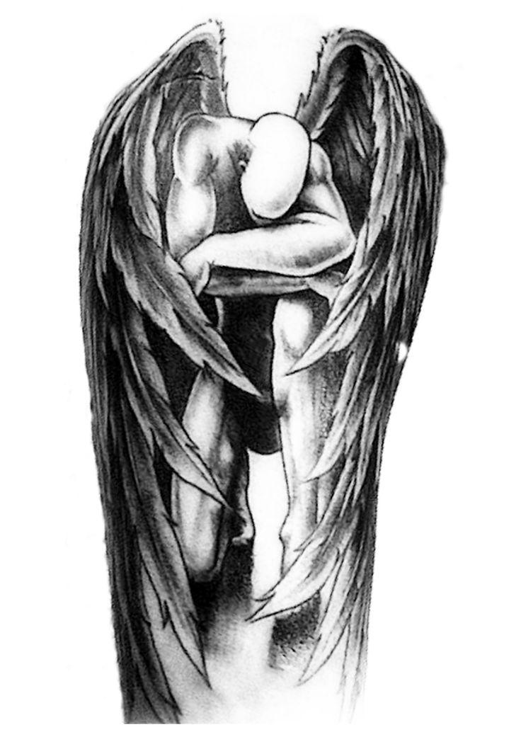 картинки для тату ангел окружен живописными бухтами