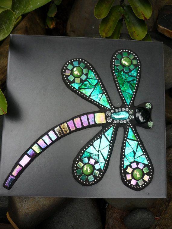 Azulejo del arte hecho para libélula mosaico mixta con la