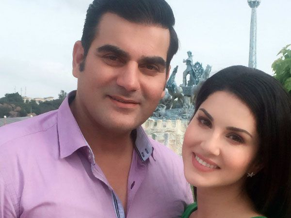 Sunny Leone and Arbaaz Khan will be seen together in 'Tera Intezaar', and Arbaaz on his Instagram account shared a beautiful picture from the sets of the film.