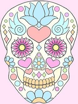 Pastel sugar skull