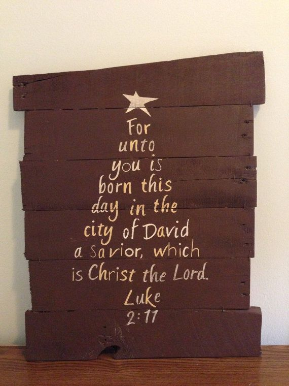 Bible Verse Christmas Tree Luke 2:11