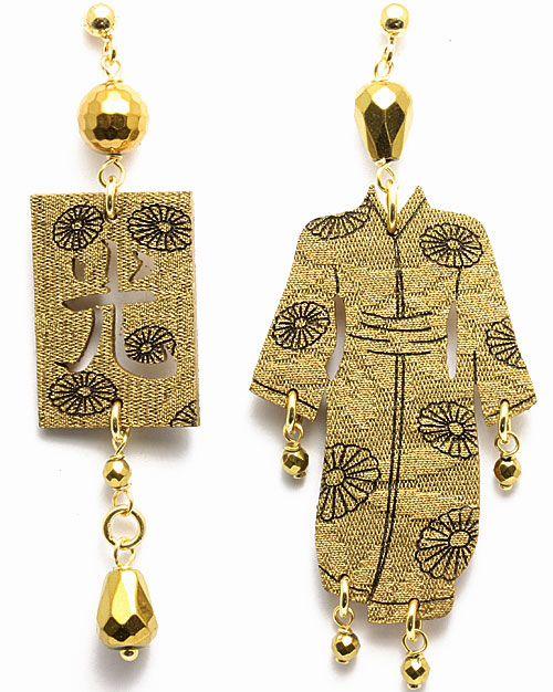 Kimono Earrings by Lebole Gioielli