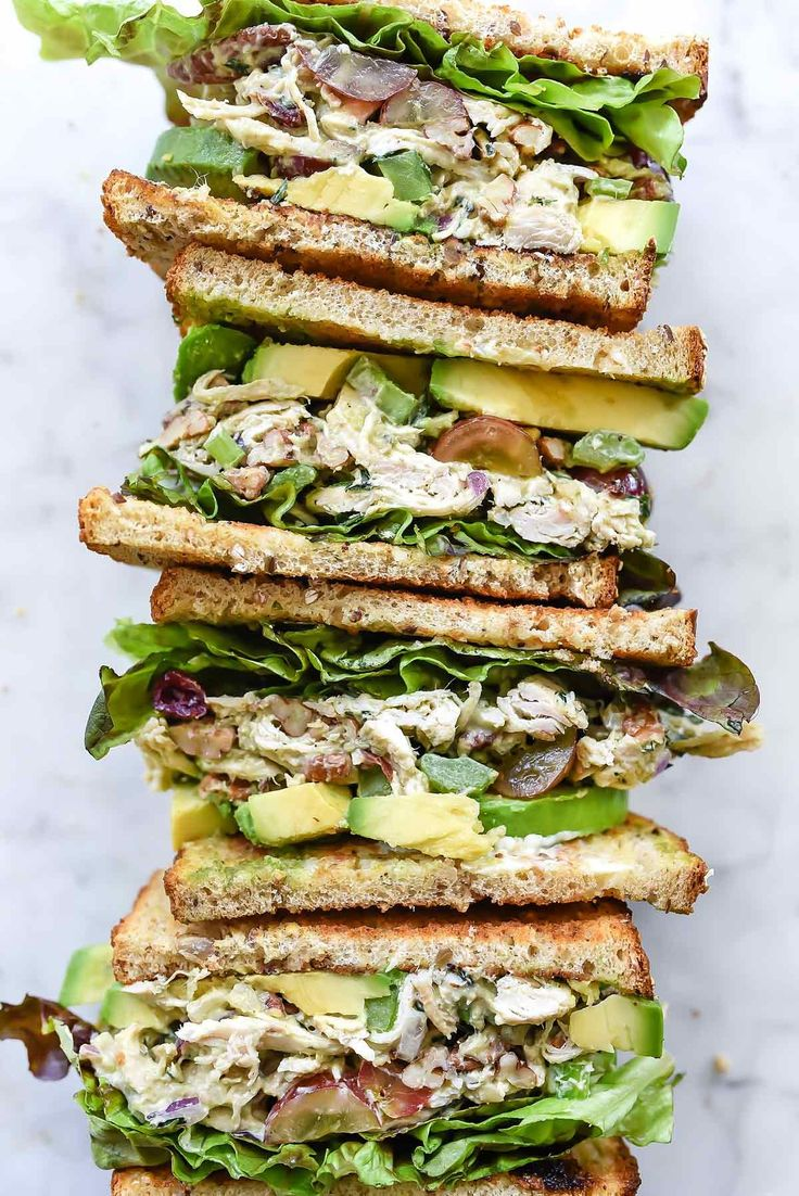Avocado Greek Yogurt Chicken Salad | foodiecrush.com