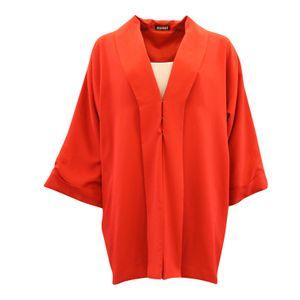 Image of Rød viscose kimono jakke
