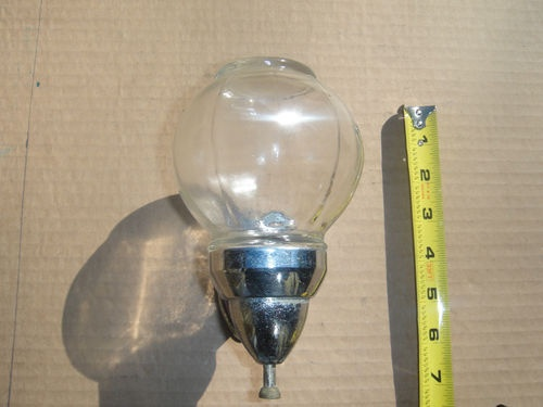 Old Vintage Wall Mount Glass Globe Amp Chrome Metal Hand