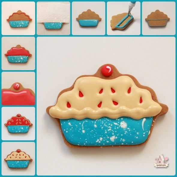Step by Step - Decorated Cherry Pie Cookies                                                                                                                                                                                 More