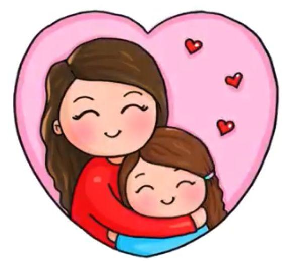 Hugging Mom Dibujos Lindos De Disney Dibujos Kawaii Dibujos Bonitos