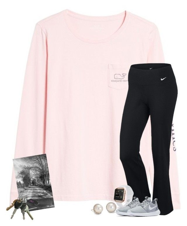 """Hi I feel like "" by patriciaroland ❤ liked on Polyvore featuring Vineyard Vines, NIKE, Fitbit and Blue Nile"