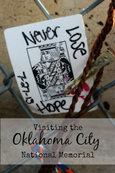 Our cross country road trip took us through Oklahoma City where we stopped to visit the Oklahoma City National Memorial.