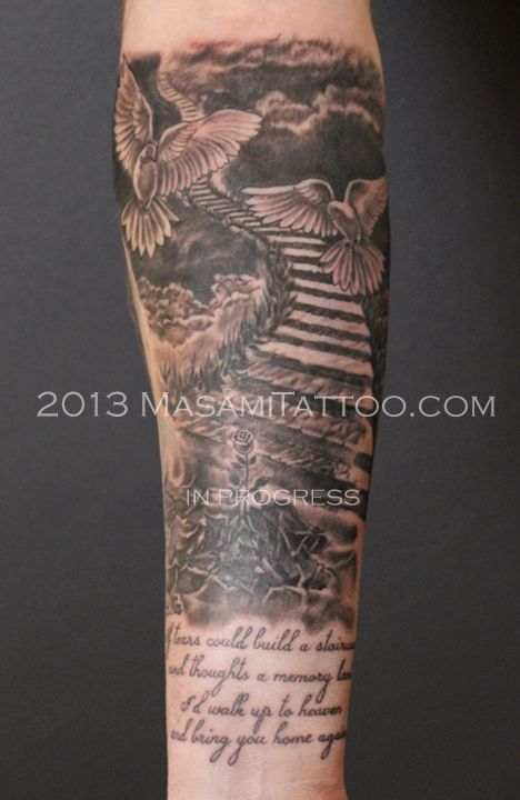 32 best pearly gates tattoo designs images on pinterest for Tattoos of heaven