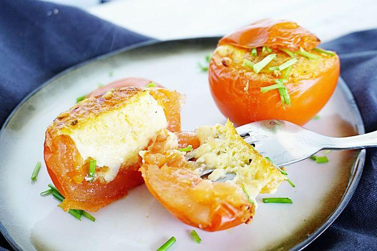gevulde tomaat en ei uit de airfryer