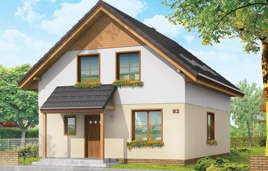 Projekt Praktyczny A to niewielki dom jednorodzinny dla czteroosobowej rodziny. Budynek parterowy z poddaszem użytkowym. Ten sam projekt przedstawiamy w dwóch wersjach wariantowych - jako dom jednorodzinny dla jednej rodziny, oraz jako dom dwulokalowy - z wydzielonymi dwoma mieszkaniami na parterze i na poddaszu. Prezentowana wersja projektu to budynek jednorodzinny. Bryła budynku jest bardzo prosta, na pewno nie będzie trudna w budowie.