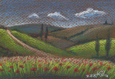 Poppy field by Lelixiana
