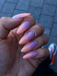 neon ombre glitter nails