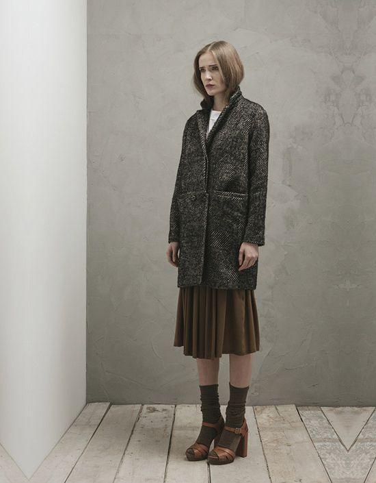 Grey wool coat - Pomandère
