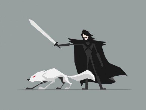 Minimalist Game of Thrones poster art