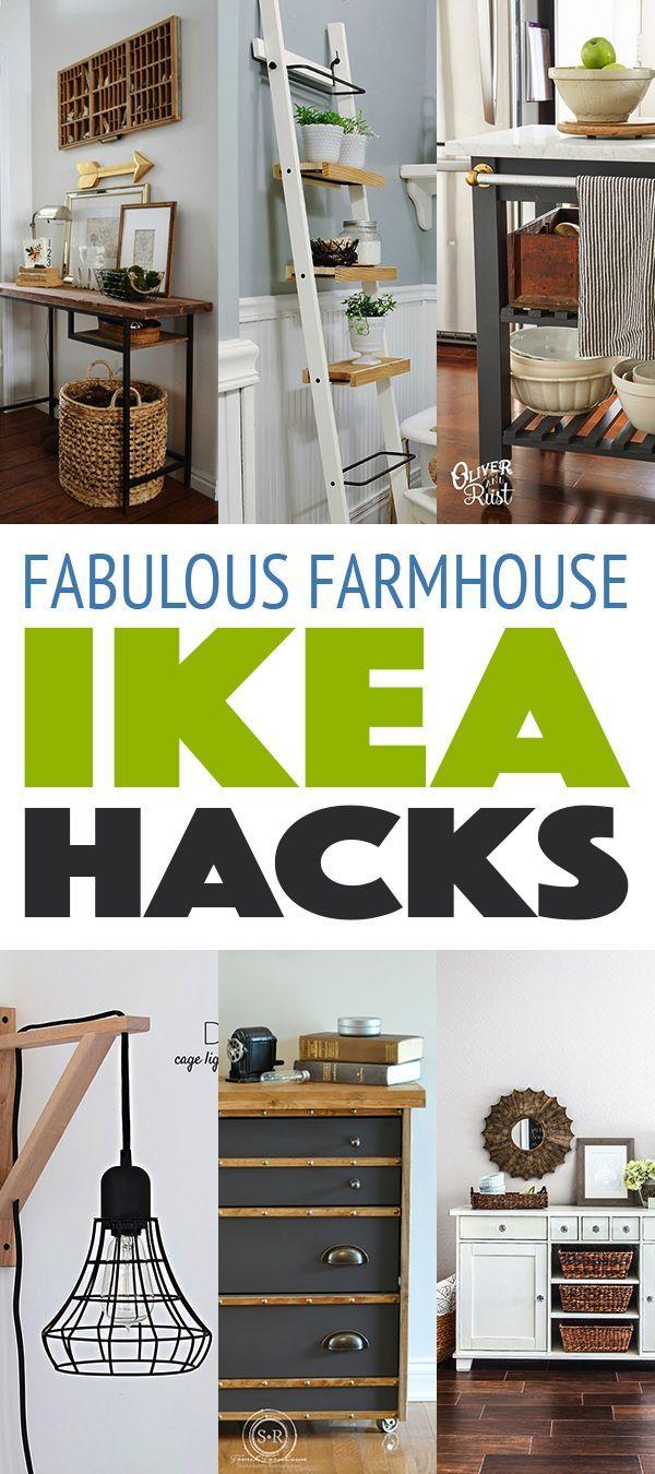 10 Fabulous Farmhouse Style IKEA Hacks
