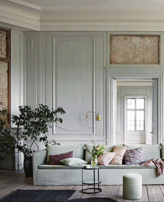 INSPIRATION / What A Stunning And Tranquil Living Room   Loving These Soft  Pastel Greens Right Now!