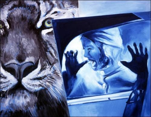 Jacques Monory, Noir et bleu n°4, 2011.