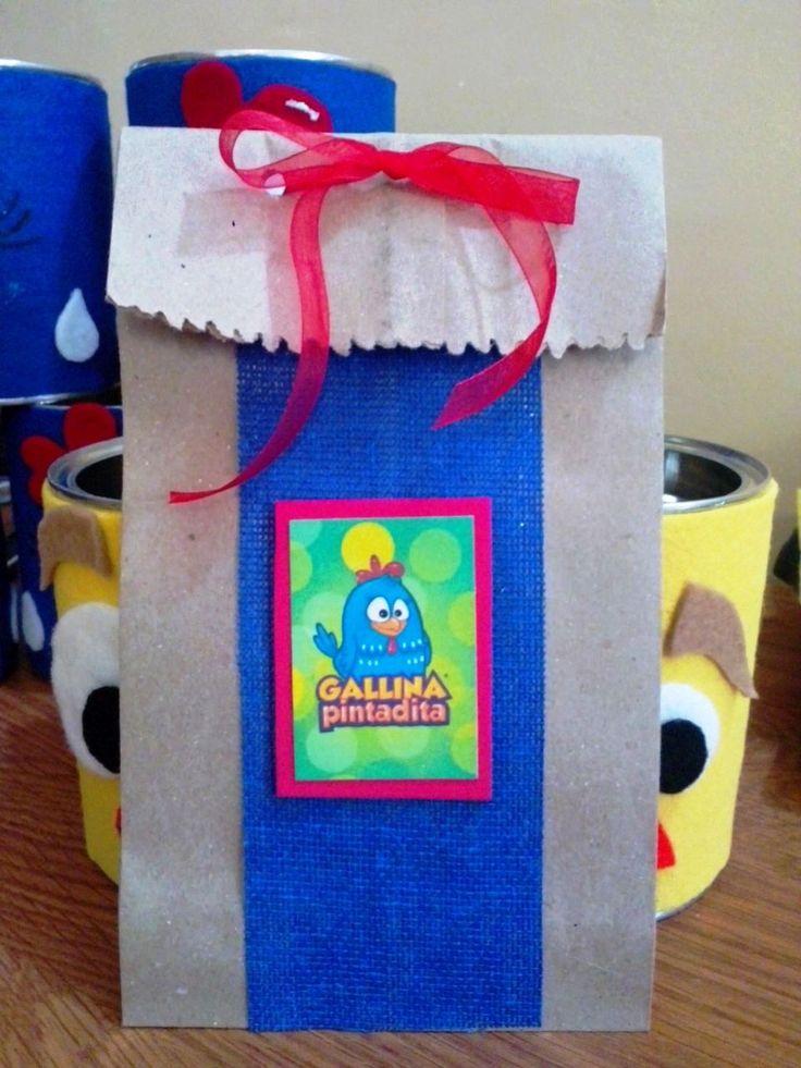 Bolsa de dulces en papel craft // Gallina Pintadita