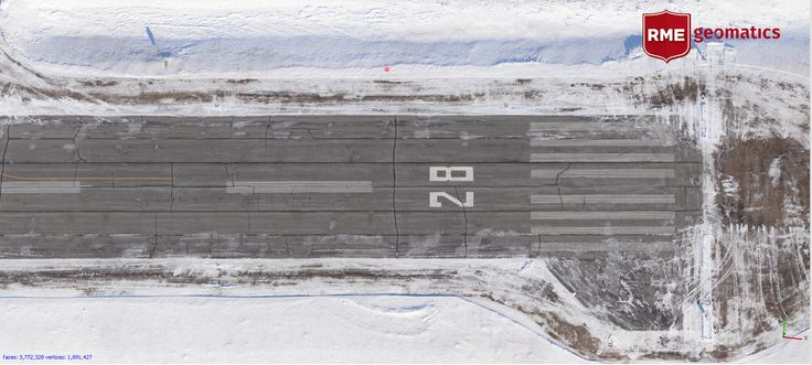 Subset of orthophoto mosaic of runway at Carp Airport, Ontario, Canada