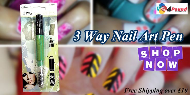 Order 3 Way Nail Art Pen Get 50% Discount at #4pound