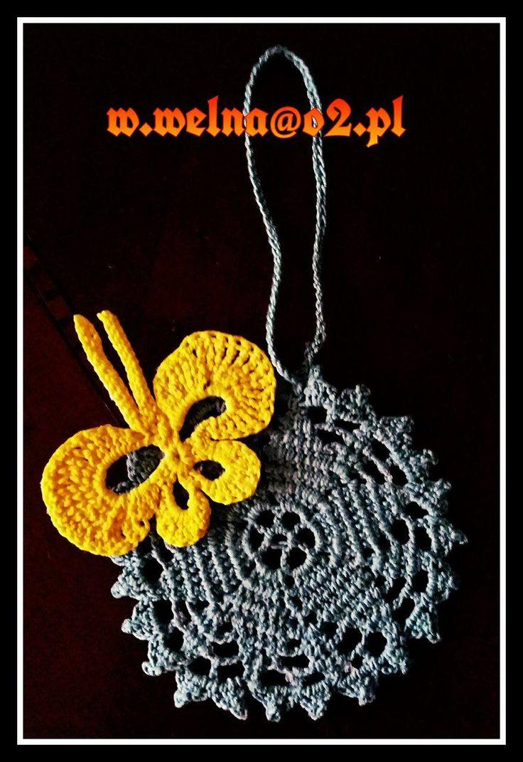The Color ;)  http://welna.blog.onet.pl w.welna@o2.pl  #handmade #crochet #szydełko #green #yellow #butterfly #flower