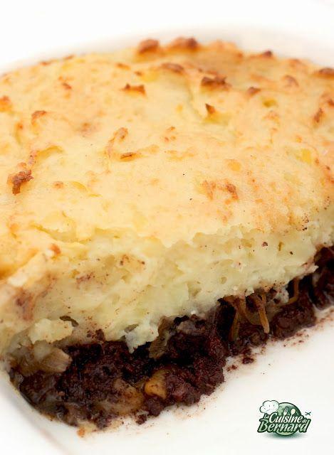 La Cuisine de Bernard: Le Parmentier de Boudin Noir aux Pommes et aux Oignons Caramélisés